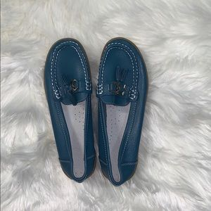 Shoes - NWOT Blue Loafers